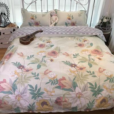 2018新款全棉13372四件套 1.8m(6英尺)床 繁花