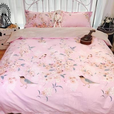 2018新款全棉13372四件套 1.5m(5英尺)床 花香粉