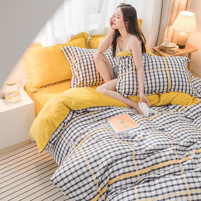 2019新品棉加绒磨毛水晶绒四件套 1.2m(4英尺)床 卡诺尔