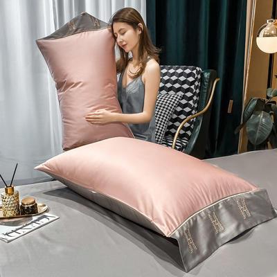 2021新款艾迪&卡夫-单枕套 枕套48*74 艾迪-豆沙+绅士灰