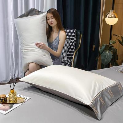 2021新款艾迪&卡夫-单枕套 枕套48*74 艾迪-峰白+绅士灰