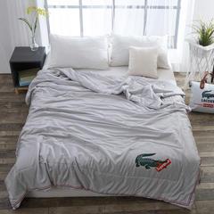 微商爆款鳄鱼蚕丝夏被 夏凉空调被 纯莫代尔面料 200x230cm 200cmx230cm 灰色