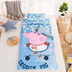 2018新品大版儿童睡袋纯棉加绒款-运动佩奇 80X120cm(光睡袋套子)