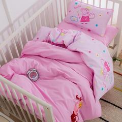 大黄蜂   2018新品毛巾绣幼儿园套件-棉花子母款(7件套) 垫芯60*120cm款七件套 佩琪天使