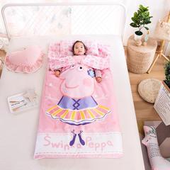 大黄蜂2018新款-大版花儿童睡袋(纯棉四季款80*150) 芭蕾佩奇80*150/2.5斤棉花内胆