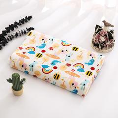 2018新款-大黄蜂儿童乳胶枕 针织棉枕套单卖小号27*44*6只 彩虹