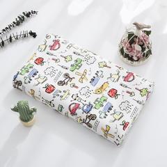 2018新款-大黄蜂儿童乳胶枕 针织棉枕套单卖小号27*44*6只 涂鸦汽车