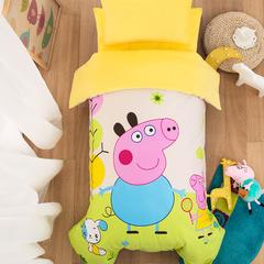2018新款-大黄蜂棉加绒(丝绵/棉花子母被芯) 丝绵子母被芯120*150cm/一条1斤 小猪绿
