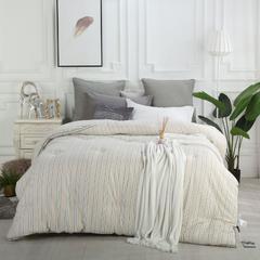 纯棉贡缎色织冬被 200*230cm(冬被) 色织卡其色