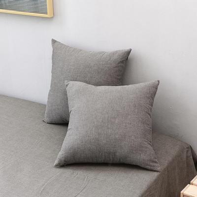 全棉色织水洗棉单品抱枕套 45x45cm/对 绅士灰