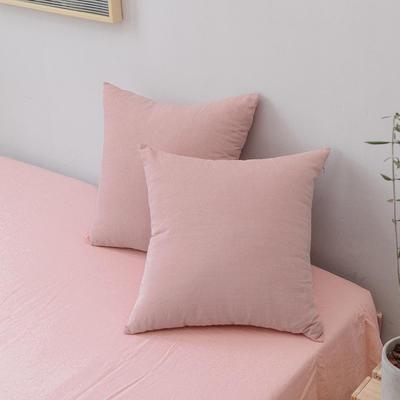 全棉色织水洗棉单品抱枕套 45x45cm/个 玉色