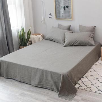 全棉色织水洗棉单品床单