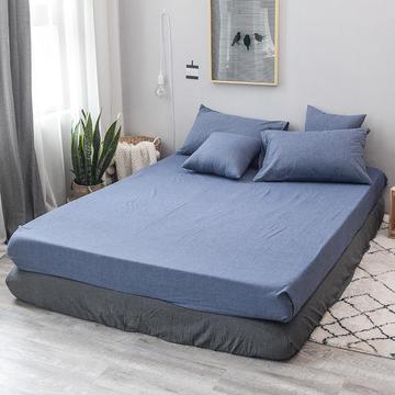 全棉色织水洗棉单品床笠