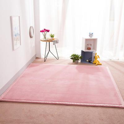 2018地垫地毯飘窗垫宝宝爬行垫(纯色地垫) 8 0 厘米*200厘米 粉色