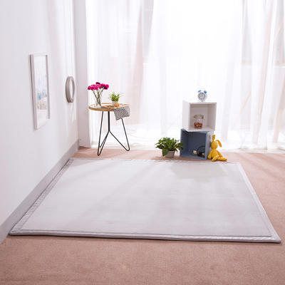 2018地垫地毯飘窗垫宝宝爬行垫(纯色地垫) 8 0 厘米*200厘米 灰色