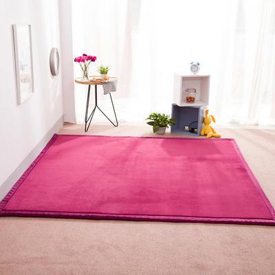 2018地垫地毯飘窗垫宝宝爬行垫(纯色地垫) 8 0 厘米*200厘米 酱红色