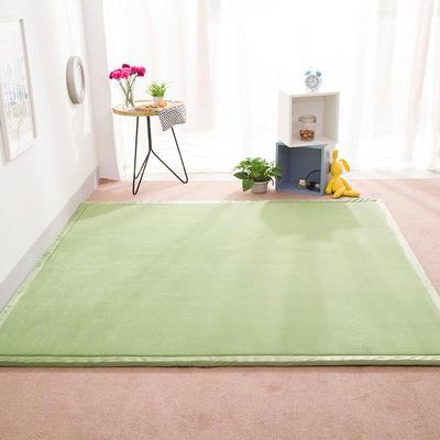 2018地垫地毯飘窗垫宝宝爬行垫(纯色地垫) 8 0 厘米*200厘米 绿色