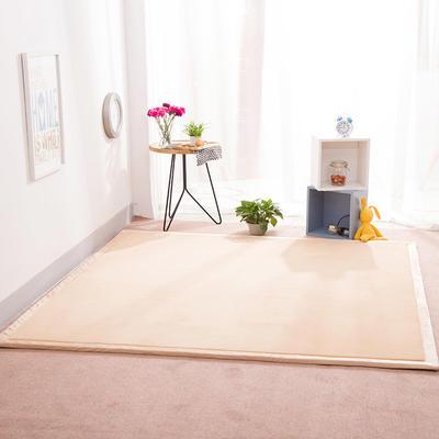 2018地垫地毯飘窗垫宝宝爬行垫(纯色地垫) 8 0 厘米*200厘米 米黄色