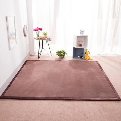 2018地垫地毯飘窗垫宝宝爬行垫(纯色地垫) 8 0 厘米*200厘米 深咖色