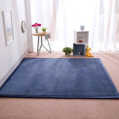 2018地垫地毯飘窗垫宝宝爬行垫(纯色地垫) 8 0 厘米*200厘米 深蓝色