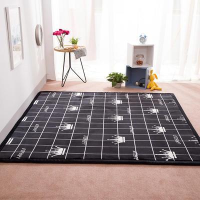 2018地垫地毯飘窗垫宝宝爬行垫(印花地垫) 8 0 厘米*200厘米 黑色皇冠