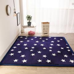 2018地垫地毯飘窗垫宝宝爬行垫(印花地垫) 8 0 厘米*200厘米 星空