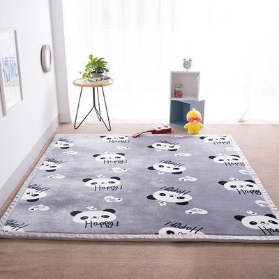 2018地垫地毯飘窗垫宝宝爬行垫(印花地垫) 8 0 厘米*200厘米 熊猫