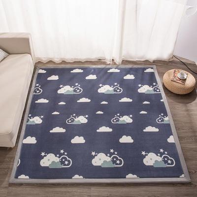 2018地垫地毯飘窗垫宝宝爬行垫(印花地垫) 8 0 厘米*200厘米 云朵之恋