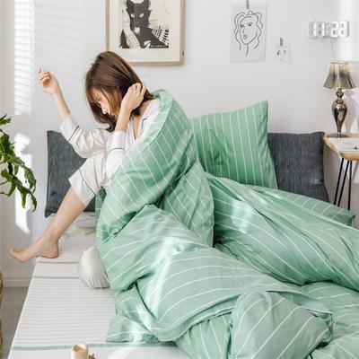2019新款全棉INS简约小清新青春系列全棉四件套 1.2m床(床单款) 南国-绿