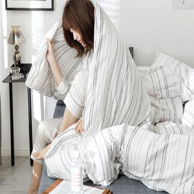 2019新款全棉INS简约小清新青春系列全棉四件套 1.5m/1.8m床(床单款) 千青