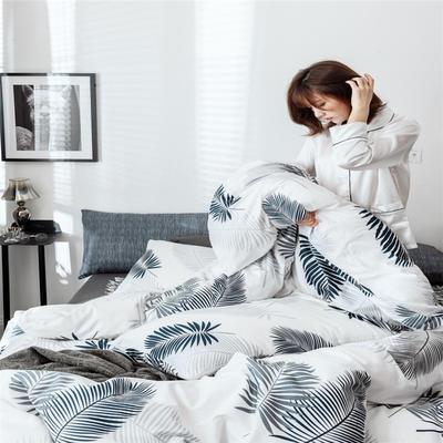 2019新款全棉INS简约小清新青春系列全棉四件套 1.5m/1.8m床(床单款) 雨蕉