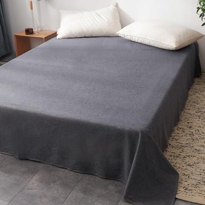 2019新款水洗棉单床单全棉色织无印良品同步新款花色 240cmx250cm 格纹-冷灰