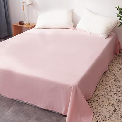 2019新款水洗棉单床单全棉色织无印良品同步新款花色 160cmx240cm 细条纹-玉色