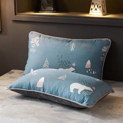 2019新款法莱绒单品枕套 48cmX74cm 一只 森林