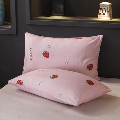 2019新款水晶绒单品枕套 48cmX74cm 一只 小草莓