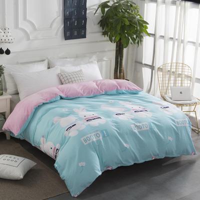 2020棉加水晶绒保暖绒单被套特价 160x210cm单被套 兔宝贝
