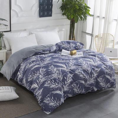 2020棉加水晶绒保暖绒单被套特价 160x210cm单被套 叶影摇香