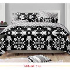 欧式活性印花平纹磨毛布宽幅235cm 克重120g W-040