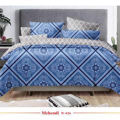 欧式活性印花平纹磨毛布宽幅235cm 克重120g W-026