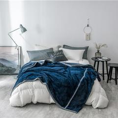 2019新款贝贝绒毛毯 150cmx200cm 深蓝色