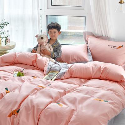 2019新款60s长绒棉四件套 1.2m(床单款四件套) 萝卜粉