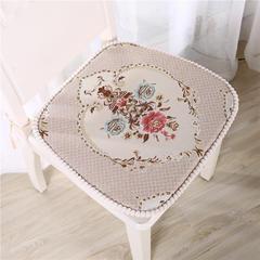 2018新款-罗塞之约 餐椅垫 小号35*45*43 米色