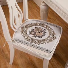 2018新款皇冠花餐椅垫 高密度海绵更换费 皇冠花-蓝色
