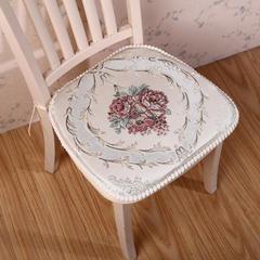 浪漫满屋欧式餐椅垫中式椅子坐垫加厚餐桌带绑带办公室凳子座椅垫子可拆洗 小号35*45*43cm 浪漫满屋-米色