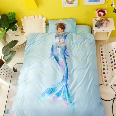 2018新款60爱子棉四件套(平网)女孩款 1.5m(5英尺)床 3