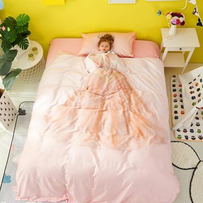 2018新款60爱子棉四件套(平网)女孩款 1.5m(5英尺)床 4
