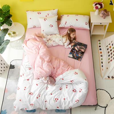 2018新款60爱子棉四件套(圆网)女孩款 1.5m(5英尺)床 1