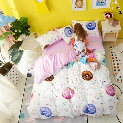 2018新款60爱子棉四件套(圆网)女孩款 1.5m(5英尺)床 2