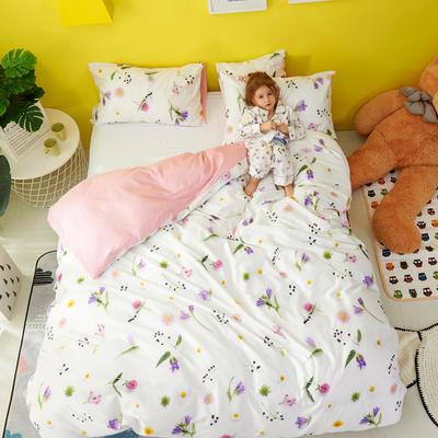 2018新款60爱子棉四件套(圆网)女孩款 1.5m(5英尺)床 6