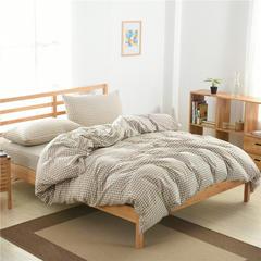 2018新款-佐宜家纺32支全棉水洗棉-单品被套 200x230cm 小格米